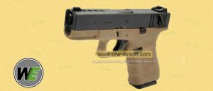 WE Metal Slide G23C Gen4 Fully/Semi Auto GBB Pistol -Dark Earth